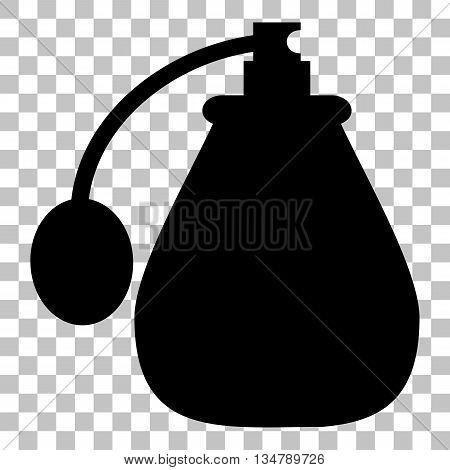Vector black perfume icon set. Perfume Icon Object, Perfume Icon Picture. Flat style black icon on transparent background.