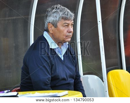 TERNOPIL - UKRAINE - 29 September 2015. The coach of FC