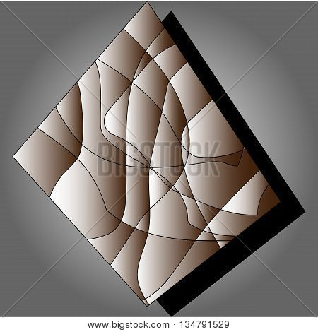 Vector background, steel plate, textured table, linear texture