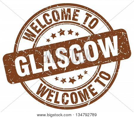 welcome to Glasgow stamp. welcome to Glasgow.
