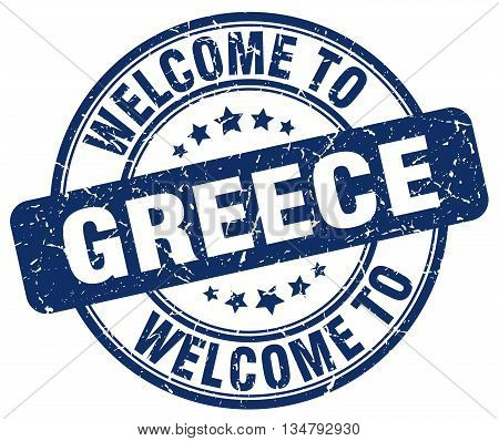 welcome to Greece stamp. welcome to Greece.