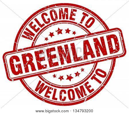 welcome to Greenland stamp. welcome to Greenland.