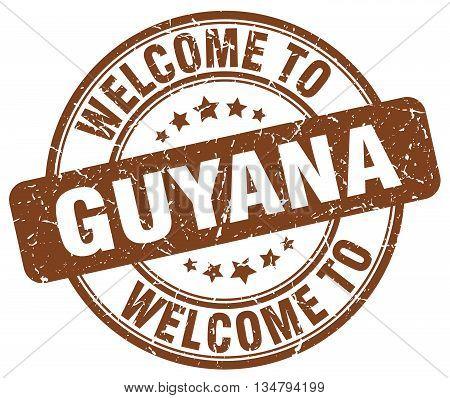 welcome to Guyana stamp. welcome to Guyana.