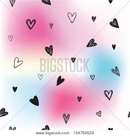 Hearts - background