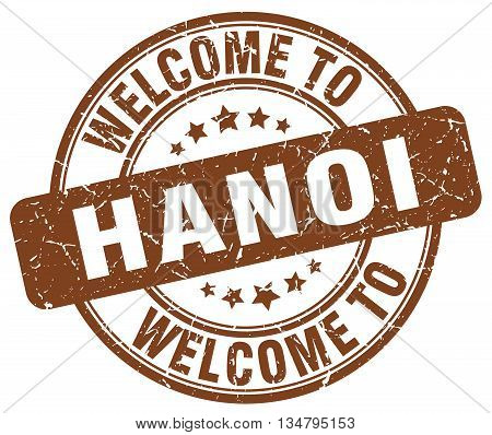 welcome to Hanoi stamp. welcome to Hanoi.