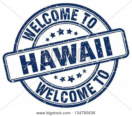 welcome to Hawaii stamp. welcome to Hawaii.