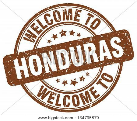 welcome to Honduras stamp. welcome to Honduras.