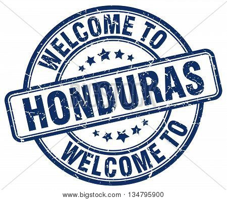 welcome to Honduras stamp. welcome to Honduras.