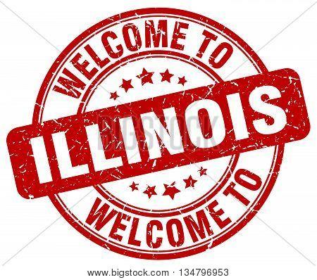 welcome to Illinois stamp. welcome to Illinois.