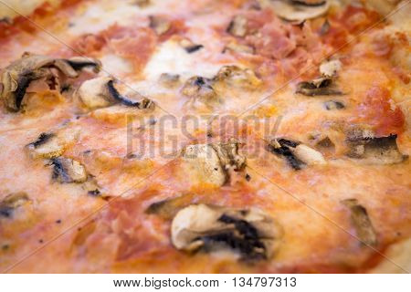Fresh made italian pizza. Traveling in Italy