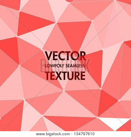 Abstract polygonal shape vector geometric background. Translucent triangular texture backdrop. Crimson color designed crumpled paper