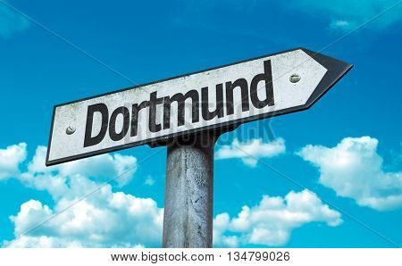 Dortmund road sign in a concept image
