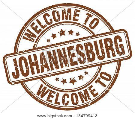 welcome to Johannesburg stamp. welcome to Johannesburg.