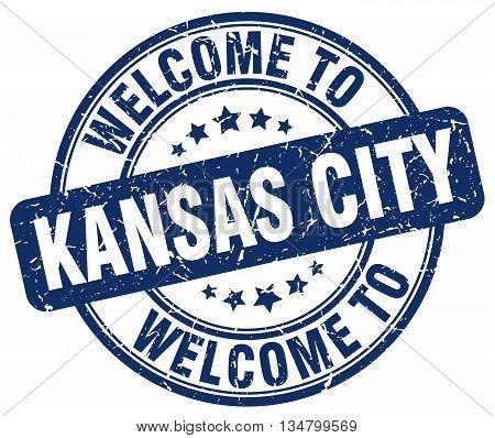 welcome to Kansas City stamp. welcome to Kansas City.