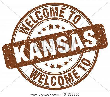welcome to Kansas stamp. welcome to Kansas.