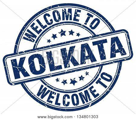 welcome to Kolkata stamp. welcome to Kolkata.