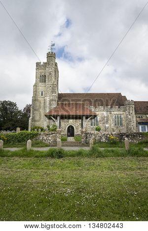 Saint John the Baptist church at Harrietsham Kent UK