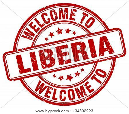 welcome to Liberia stamp. welcome to Liberia.