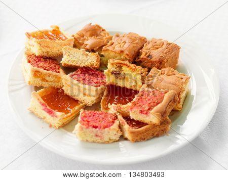 Cut Bischeri cake, a Tuscan traditional dessert