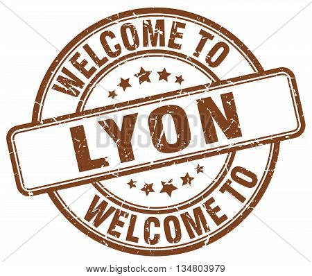 welcome to Lyon stamp. welcome to Lyon.