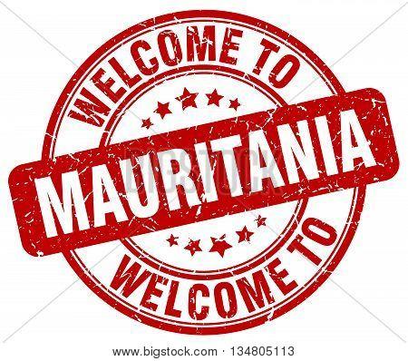 welcome to Mauritania stamp. welcome to Mauritania.