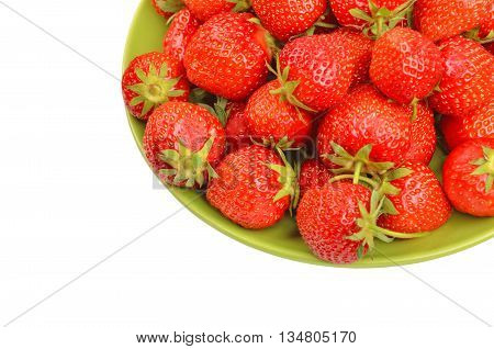 Strawberry On Plate