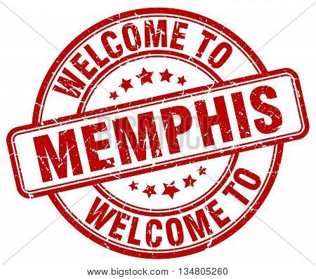 welcome to Memphis stamp. welcome to Memphis.
