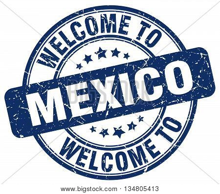 welcome to Mexico stamp. welcome to Mexico.