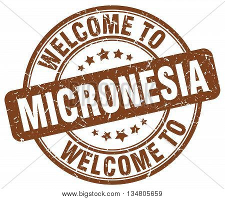 welcome to Micronesia stamp. welcome to Micronesia.