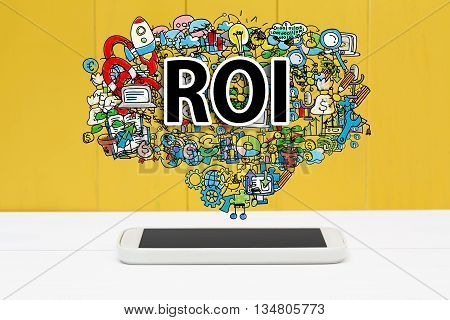 Roi Concept With Smartphone