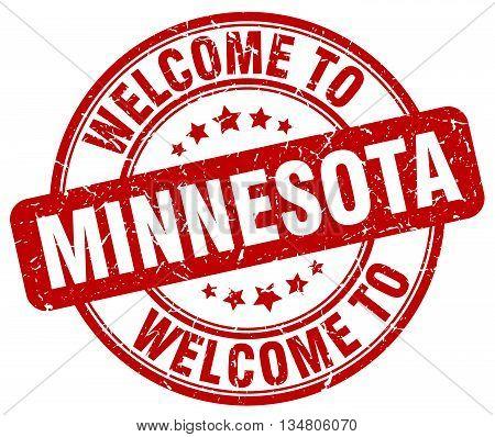 welcome to Minnesota stamp. welcome to Minnesota.