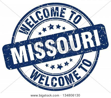 welcome to Missouri stamp. welcome to Missouri.
