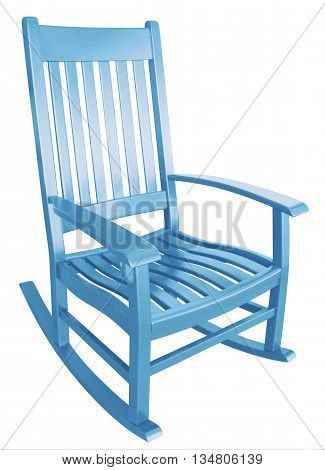 Baby blue rocking chair waiting for parents to rock boy to sleep