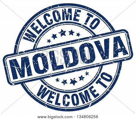 welcome to Moldova stamp. welcome to Moldova.