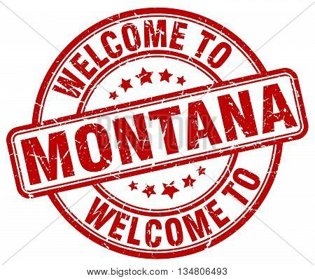welcome to Montana stamp. welcome to Montana.