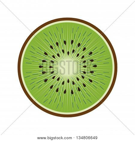 Organic and healthy food represented by fresh kiwi fruit icon over flat and isolated design