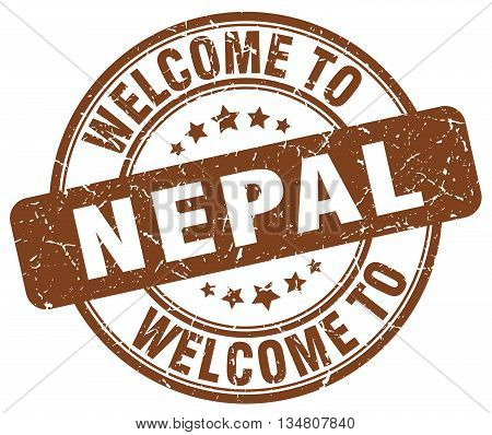 welcome to Nepal stamp. welcome to Nepal.