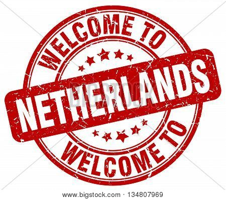 welcome to Netherlands stamp. welcome to Netherlands.