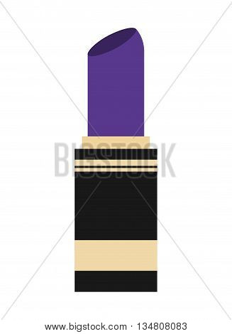 Make up and Cosmetic represented by lipstick icon over flat and isolated design