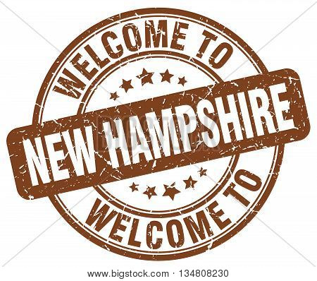 welcome to New Hampshire stamp. welcome to New Hampshire.