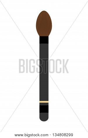 Make up and Cosmetic represented by brush icon over flat and isolated design