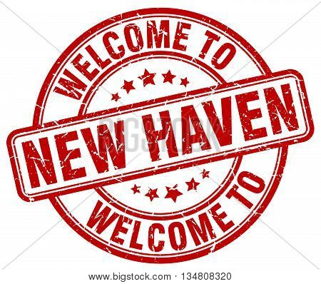 welcome to New Haven stamp. welcome to New Haven.