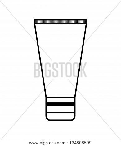 Make up and Cosmetic represented by facial cream icon over flat and isolated design
