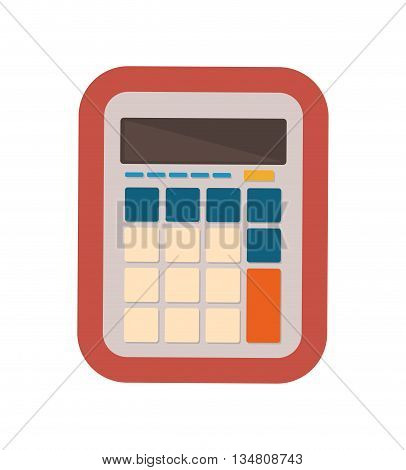 Mathematics represented calculator icon over flat and isolated design