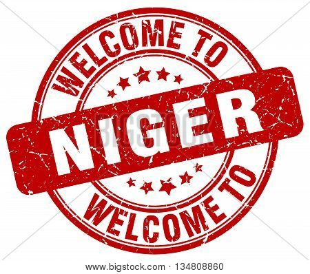 welcome to Niger stamp. welcome to Niger.