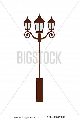 Green area concept represented by lamp for playground icon over flat and isolated design