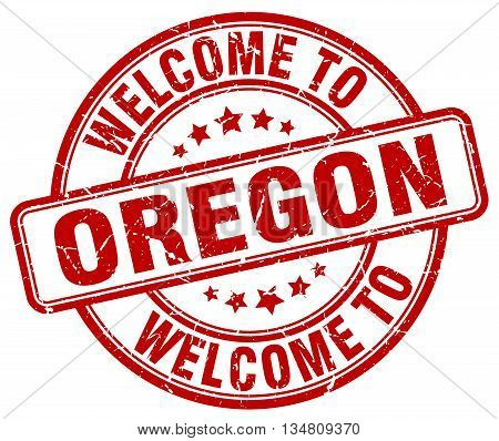 welcome to Oregon stamp. welcome to Oregon.