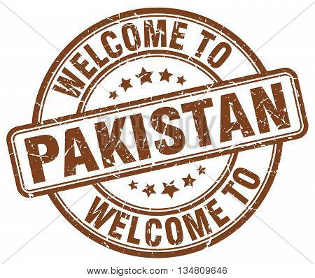 welcome to Pakistan stamp. welcome to Pakistan.