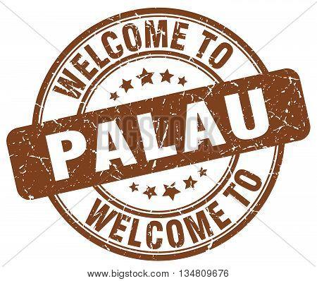 welcome to Palau stamp. welcome to Palau.