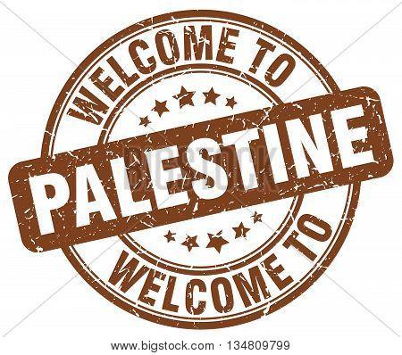 welcome to Palestine stamp. welcome to Palestine.
